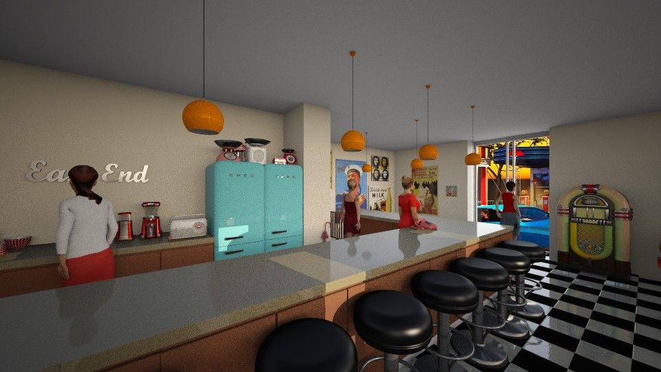 50s roadside dinner - Vintage - Dining room - by jjannnii