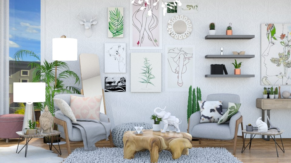 Spring - Feminine - Living room - by annator