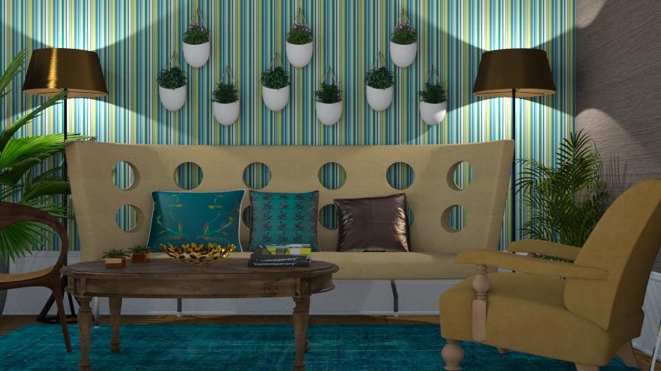 jungle living room  - Living room - by zrinkaroso