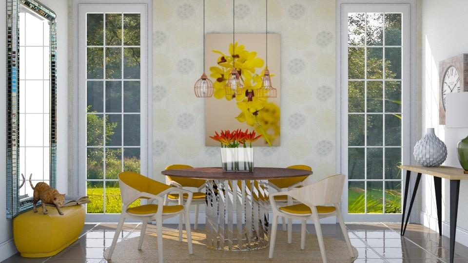 Toque de amarelo - Dining room - by Alecio