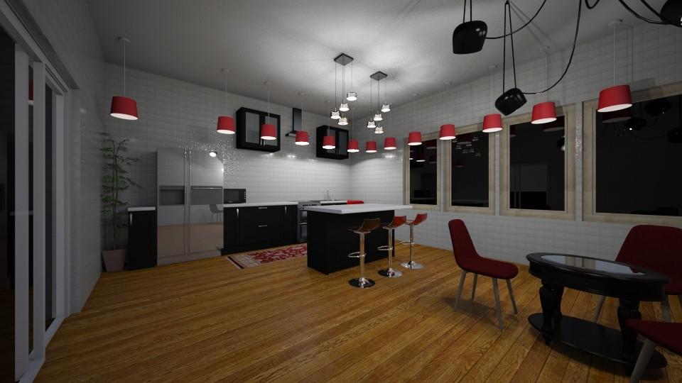 Colorful Kitchen - Modern - Kitchen - by udanielle12
