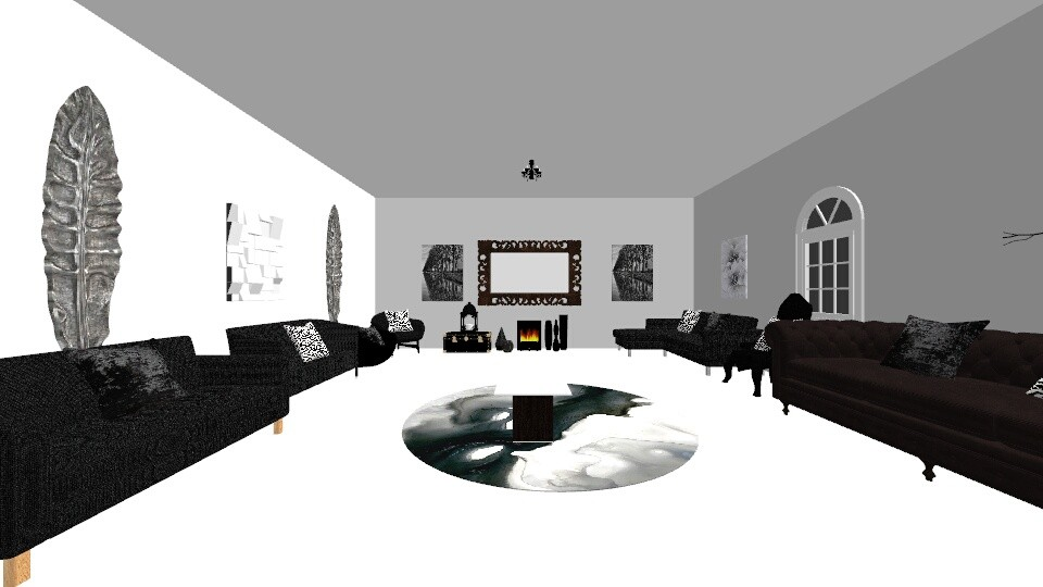 black living room - Living room - by khayla simpson