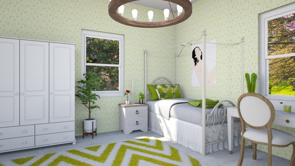 Sovrum lime - Bedroom - by Louise Hedlund