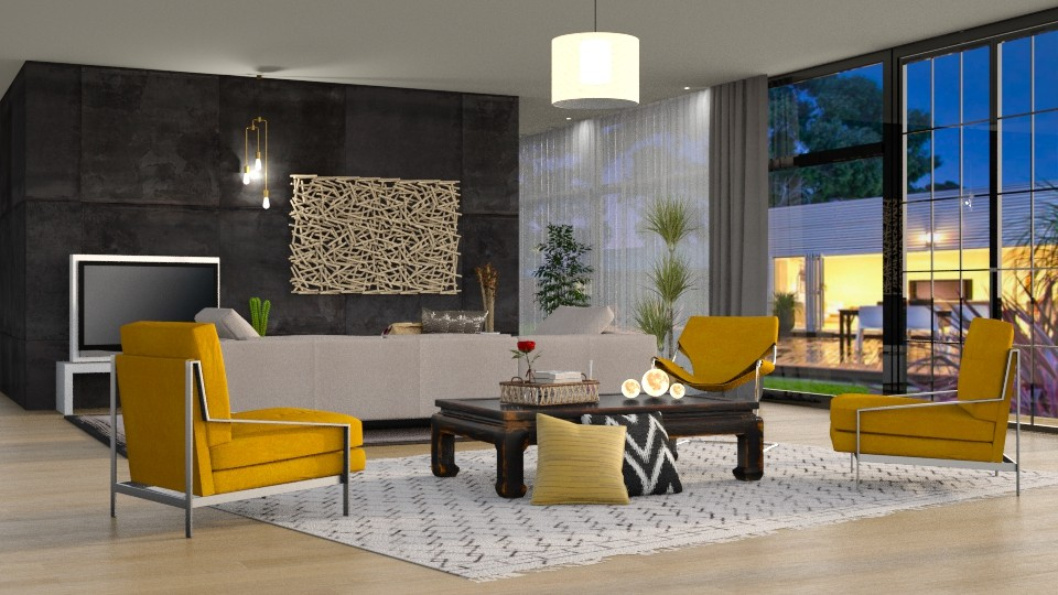 Yellow Chairs - Living room - by DeborahArmelin