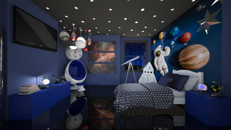 Space Bedroom - Global - Kids room - by creato