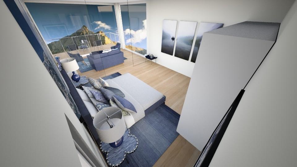 Blue Bedroom - Modern - Bedroom - by AnaCatarina