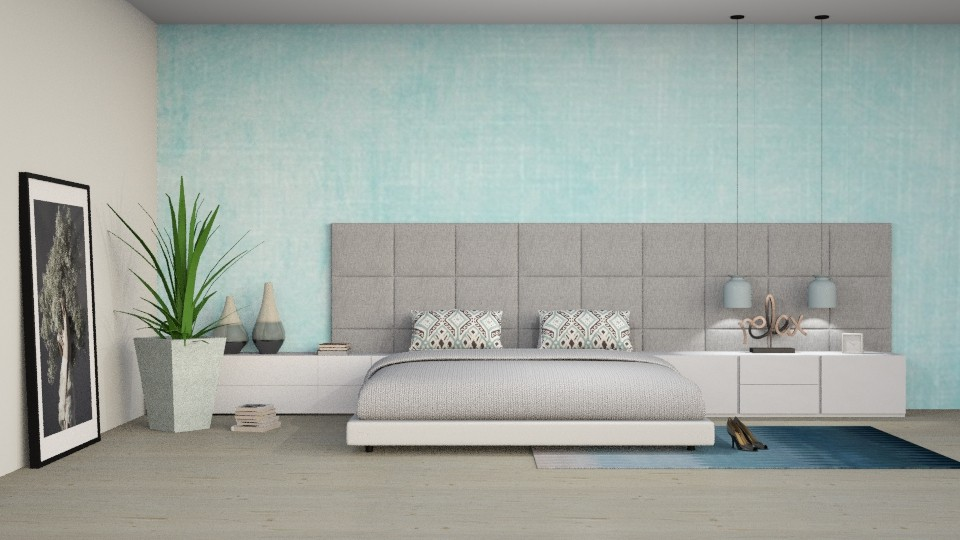Relax in BLUE - Bedroom - by meggle