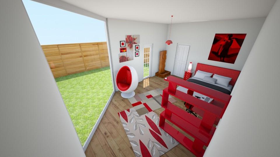 Red Room - Bedroom - by makaylapeep