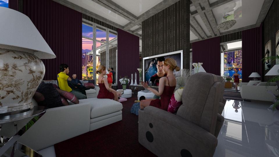 Cinema em casa  - Living room - by Maria Helena_215