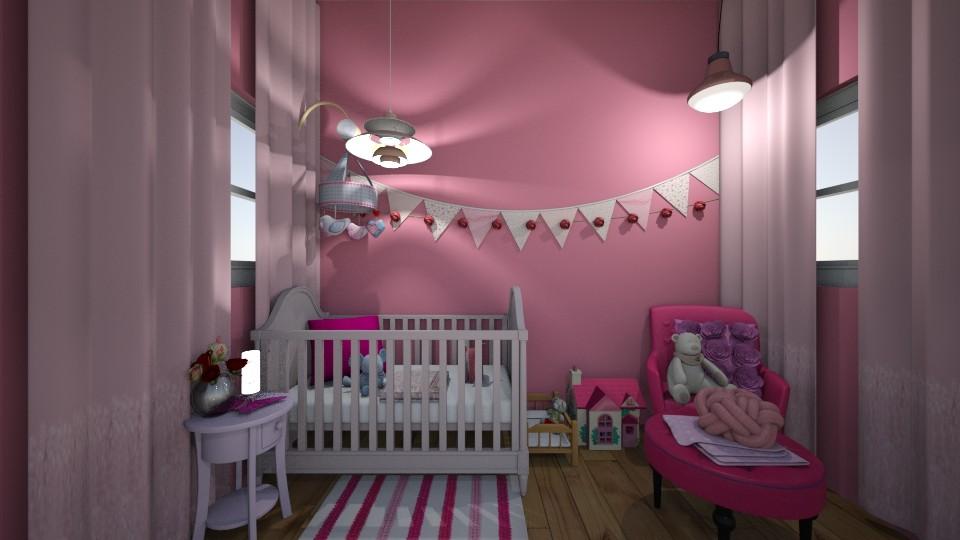 pink nursery - Kids room - by Ellie665