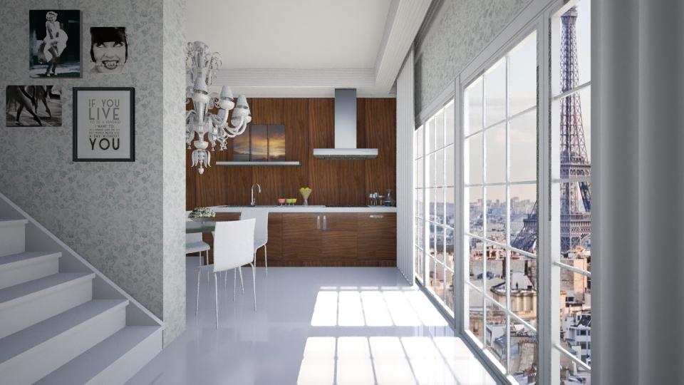 Kitchen in Paris - Kitchen - by GosiaT