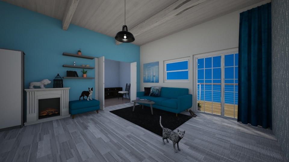 stylowy dom z balkonem - by nati321