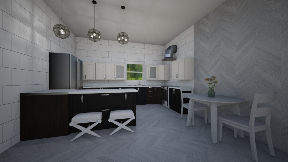 Back and White Kitchen - by zwsclb