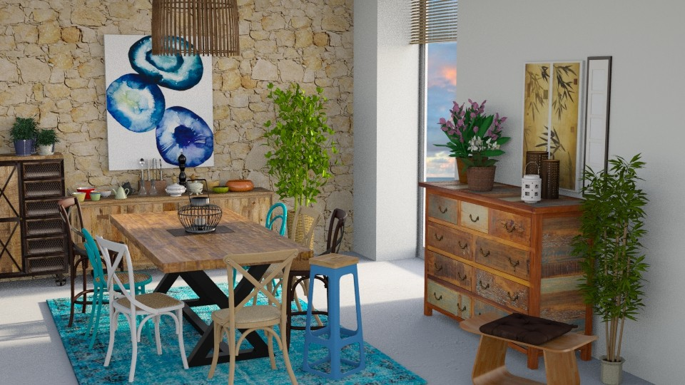 Exotic Blue - Dining room - by seth96