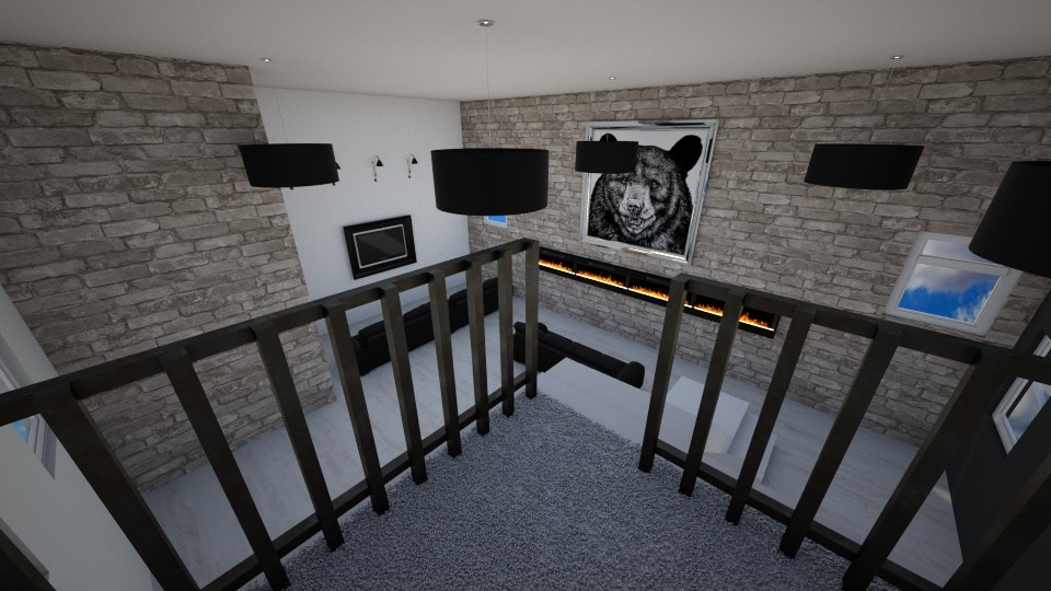 Stone Living Room - Living room - by Itsjustme1