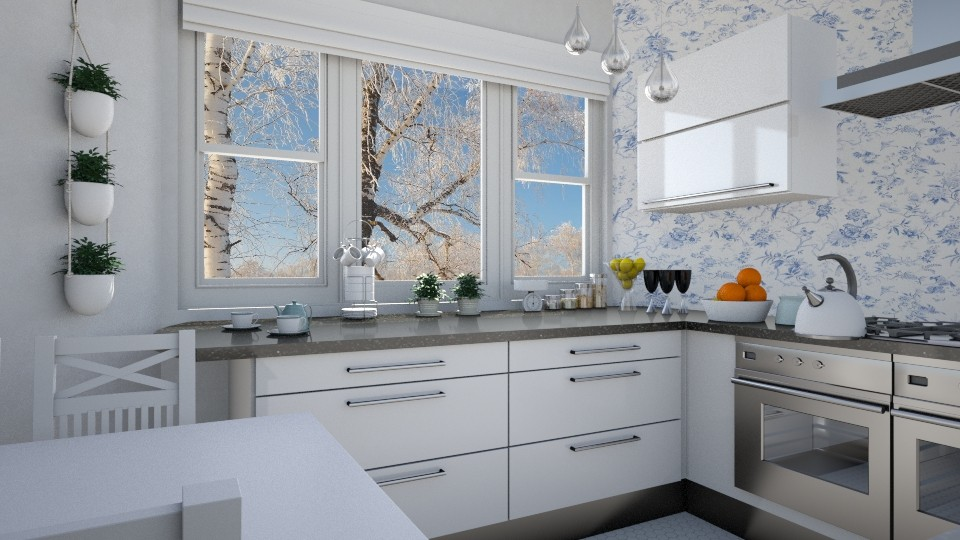 Birch trees - Kitchen - by agapka