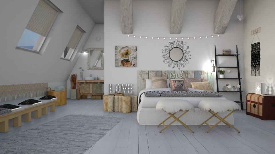 Hippie Chic Bedroom - by ariema