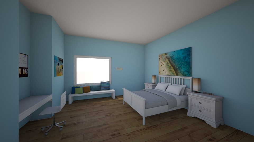 Beach House - Bedroom - by Designs by Hailey