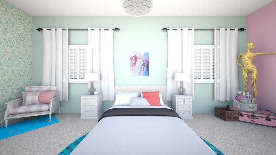 my dreamish bedroom - Bedroom - by LuanaSoaresDesigns