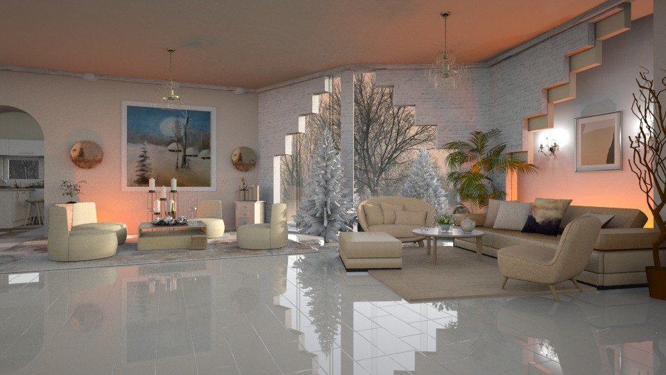 Pastel _ Living Room - by ZsuzsannaCs