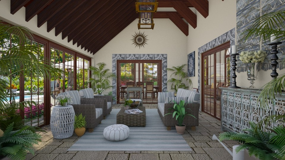Design 355 Enclosed Porch in Blue - by Daisy320