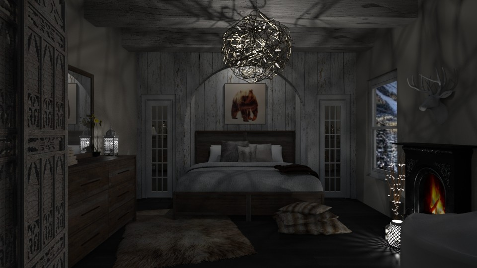 The Wooden Bedroom - Bedroom - by lydiairenefritz