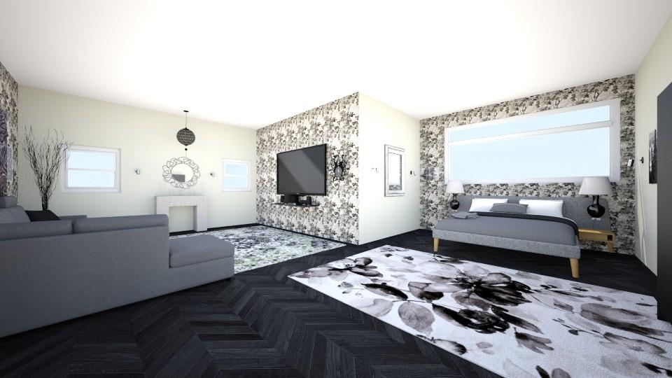 Grey - Bedroom - by zainizaheer