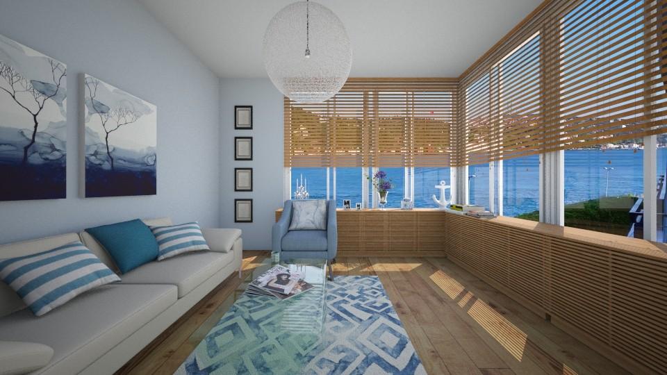 blue - Living room - by kanatsizmelek