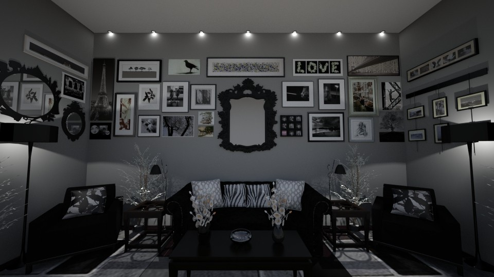 Photo Wonder Wall - Eclectic - Living room - by Kelly Carter