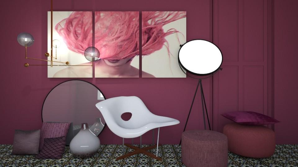 Trend Aubergine - Eclectic - Living room - by esmeegroothuizen