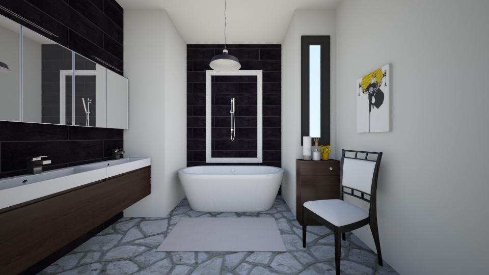 modern bathroom - Bathroom - by trAnsu