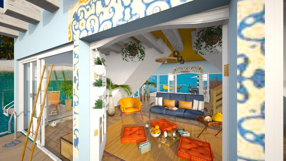 Orange Blue Design - by Vanessa_D