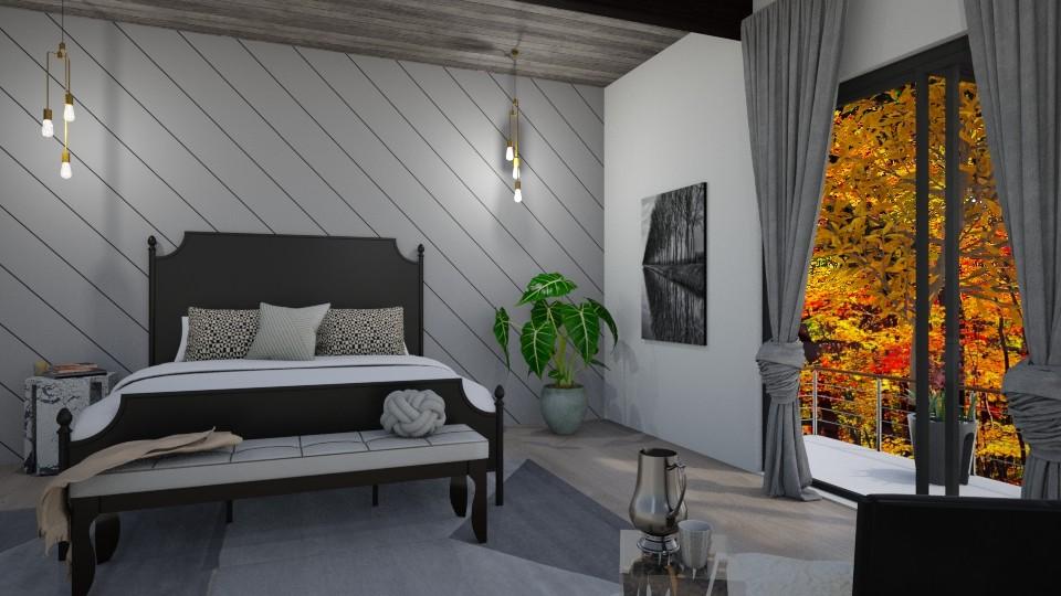 Nero e Bianco Reflections - Bedroom - by raphaelfernandesdesign