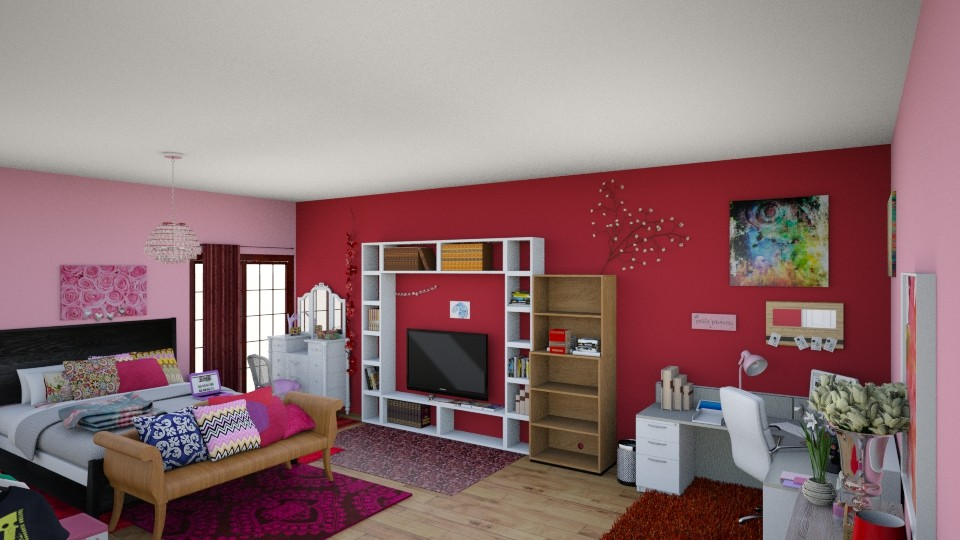 Favourite colour bedroom  - by Beatrice Esan