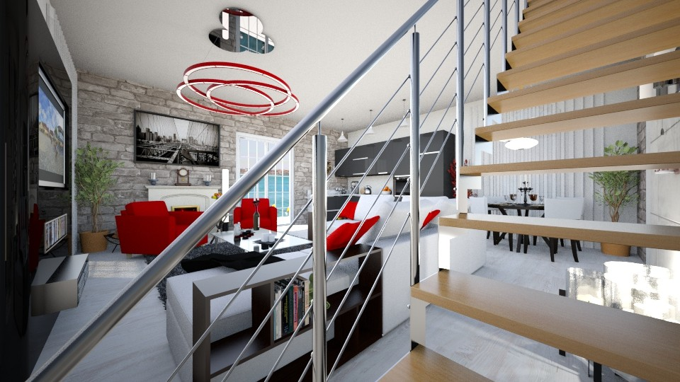 red - Living room - by TMMagda