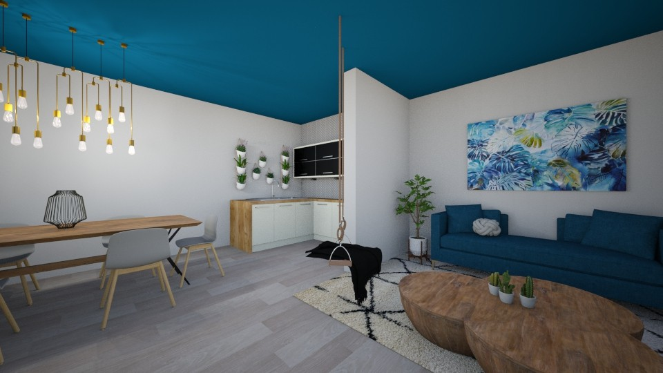 Apartment 0556 - Modern - Living room - by Puppies44