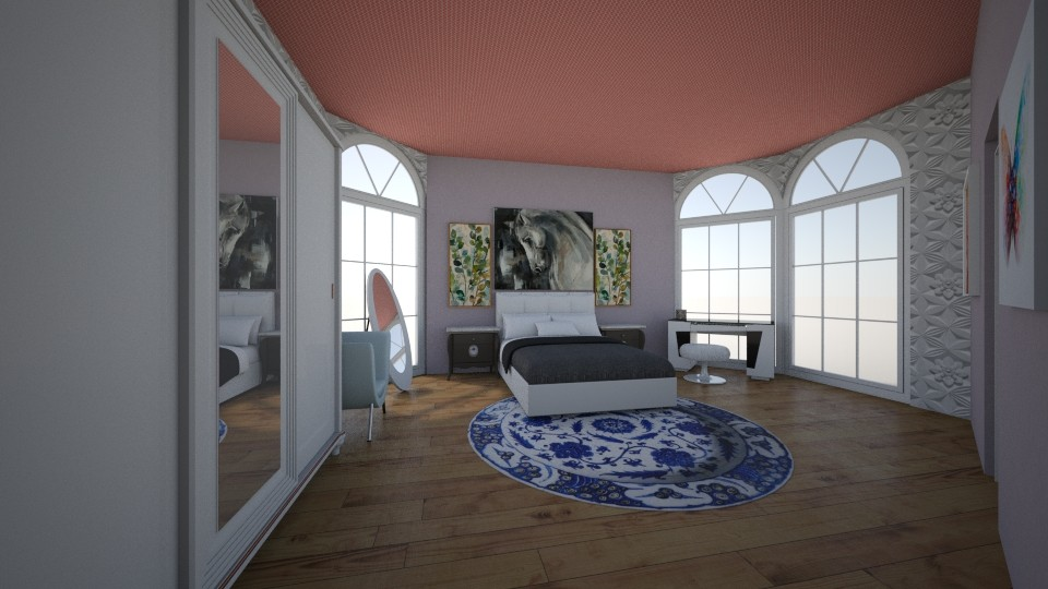 2white and diamonds  - Bedroom - by hania2001