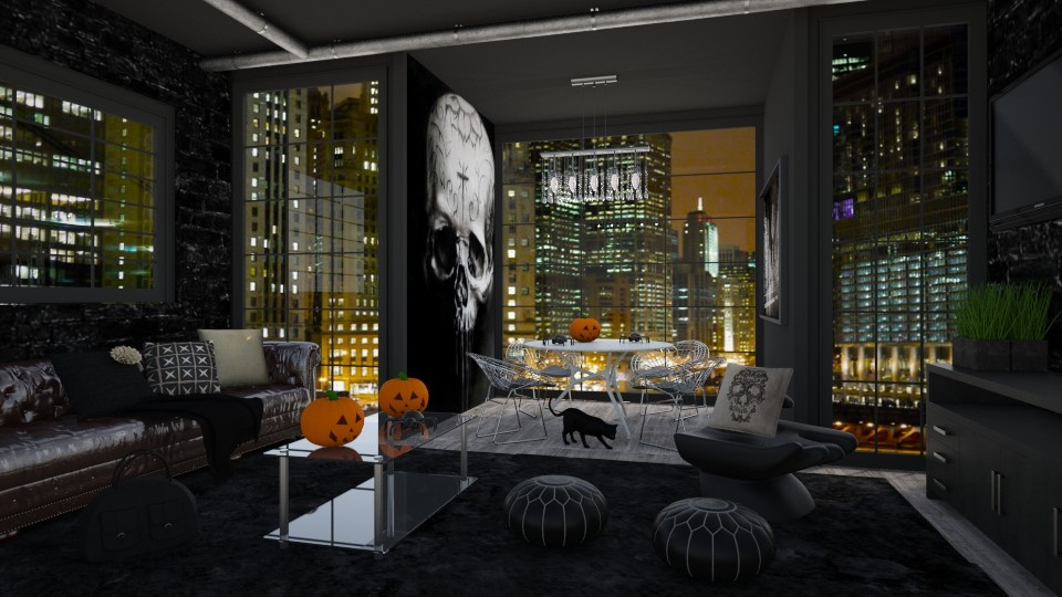 Chicago Halloween - Living room - by bgref