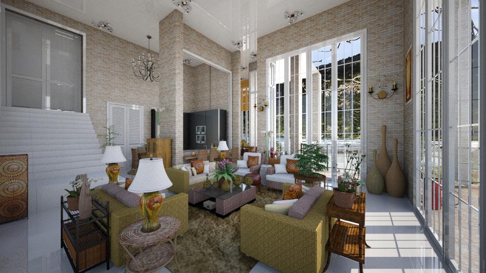 Casa de Praia - Living room - by Maria Helena_215