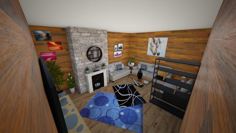 Wood Stone Room - Living room - by makaylapeep