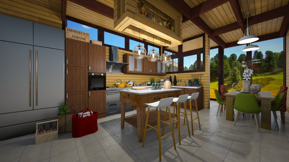 Wood in Kitchen - Kitchen - by JarkaK
