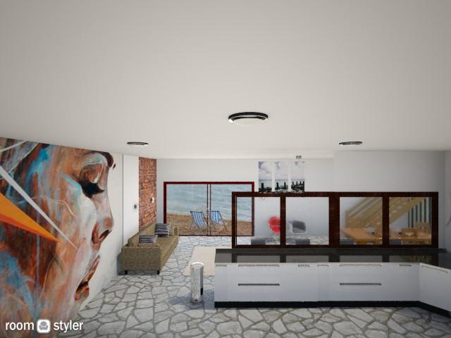 Seaside Home - Eclectic - Living room - by DesireToDesign