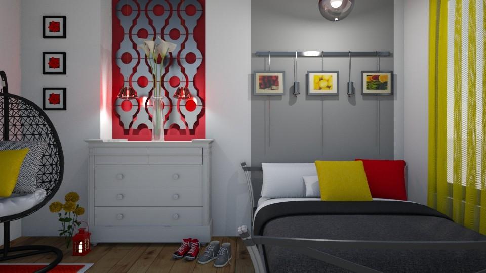Small Bedroom 8 - Modern - Bedroom - by XiraFizade
