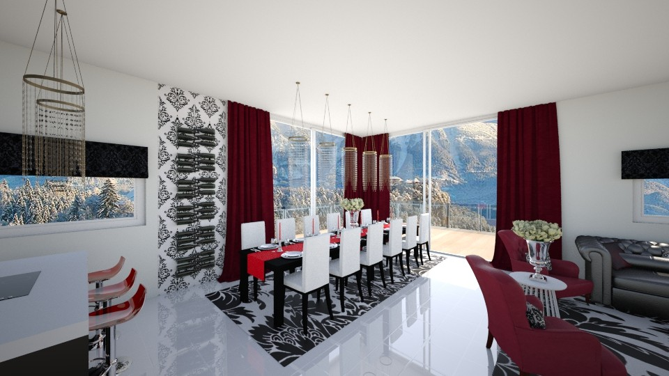 damask - Dining room - by seldina