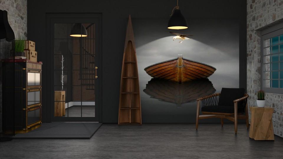 Rustic Foyer - by KKTO