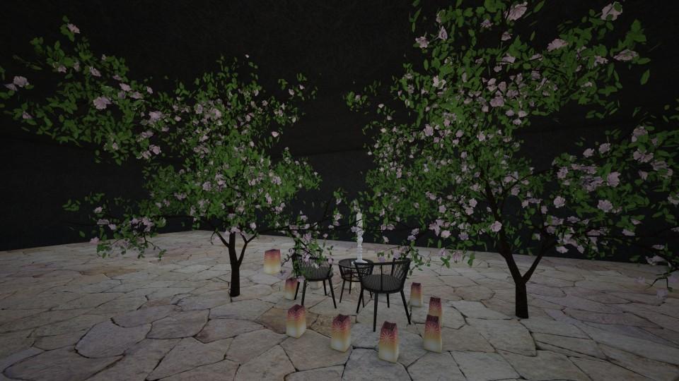 The night - Vintage - Garden - by Emiliempje1
