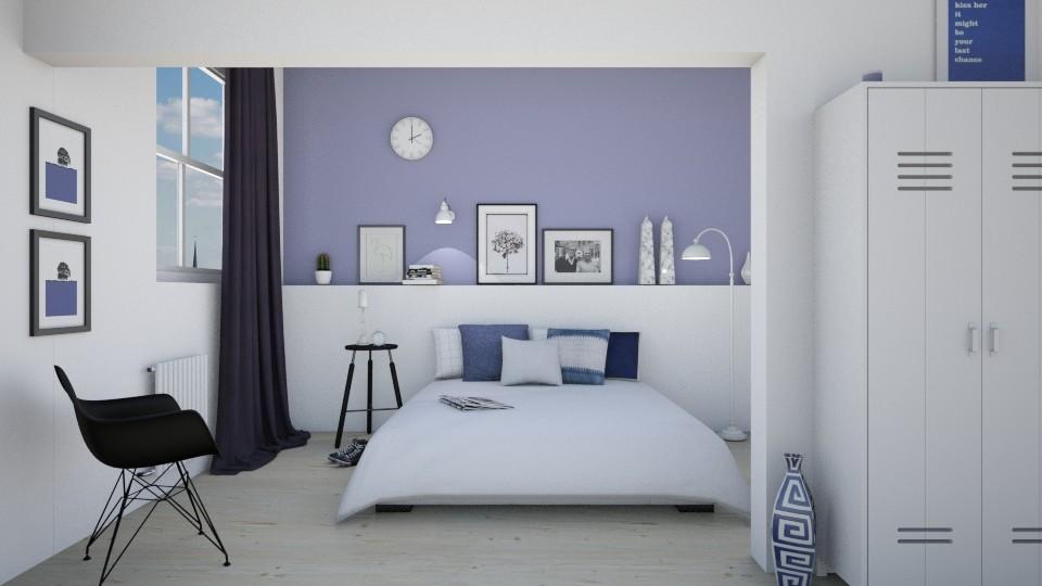 Blue Bedroom - Bedroom - by marleinxs