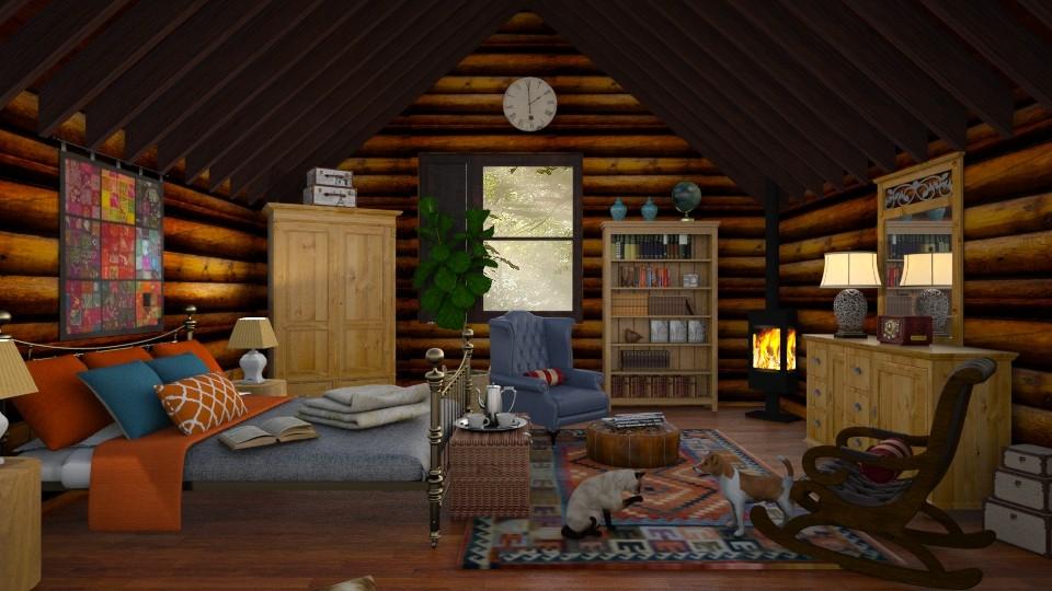 Log Cabin Attic - by lydiaenderlebell