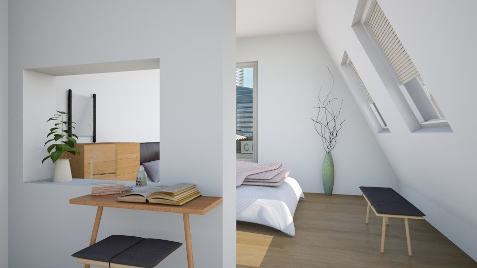 attic apt - Minimal - Bedroom - by laughterlines