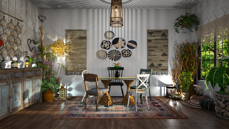Bohemian Living - Dining room - by  krc60